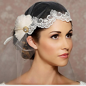 cheap Wedding Veils-One-tier Love Wedding Veil Fingertip Veils with Appliques / Crystals / Rhinestones Tulle