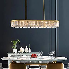 cheap Abstract Paintings-110 cm Island Design Pendant Light Crystal Modern 110-120V 220-240V
