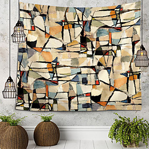 cheap Wallpaper-Pad Dyeing Abstract Illustration Tapestry Wall Hanging Tapestries Wall Blanket Wall Art Wall Decor Landscape Painting Tapestry Wall Decor