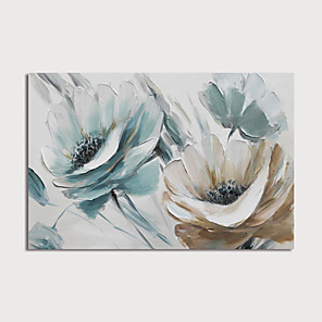 cheap Floral/Botanical Paintings-Hand-Painted Abstract Flowers Painting Canvas Art  Painting Abstract Still Life Acrylic Painting Modern Art Textured Art  with Stretcher Ready to Hang With Stretched Frame