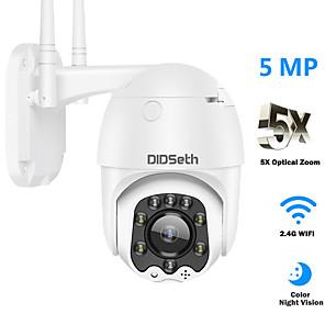 cheap Outdoor IP Network Cameras-DIDSeth PTZ Speed Dome WIFI IP Camera 1080P 5MP Outdoor 5X Zoom Wireless Camera IR 30m Two Way Audio CCTV Surveillance Cam