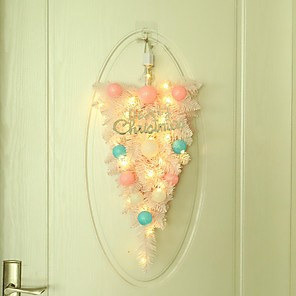 cheap Wedding Decorations-Christmas decoration macaron ball decoration pink upside down tree holiday home door wall hanging ornament decoration
