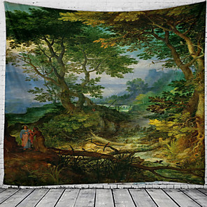 cheap Wallpaper-Forest Wonderland Tapestry Wall Hanging Tapestries Wall Blanket Wall Art Wall Decor Landscape Painting Tapestry Wall Decor