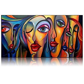 cheap Abstract Paintings-Beautiful Wall Pictures Cool Girl Figure Portrait Oil Paintings 100% Hand painted Abstract People Oil Paintings Canvas Free Shipping Rolled Without Frame