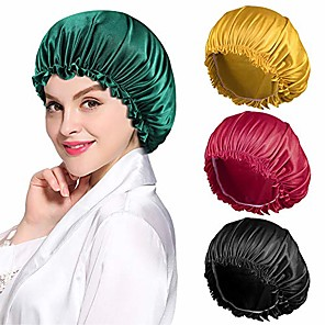 cheap Bathroom Gadgets-4pcs satin bonnet for women natural curly hair,e