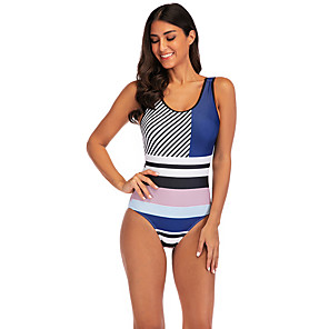cheap Wetsuits, Diving Suits & Rash Guard Shirts-Women's One Piece Swimsuit Swimwear Breathable Quick Dry Sleeveless Swimming Surfing Water Sports Summer / Stretchy