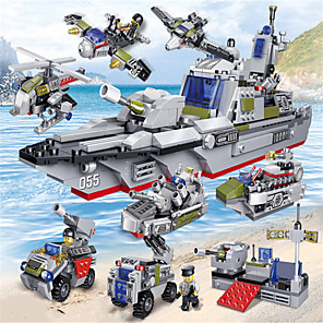 cheap Building Blocks-Building Blocks 692 pcs Military compatible ABS Resin Legoing Simulation Plane Boat Climbing Car All Toy Gift