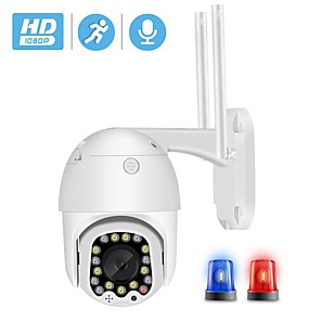 cheap Outdoor IP Network Cameras-BESDER Outdoor Motion Alert 2MP IP Camera WiFi 4X Digital Zoom Dual Antenna Speed Dome Camera With Siren Light Cloud Storage