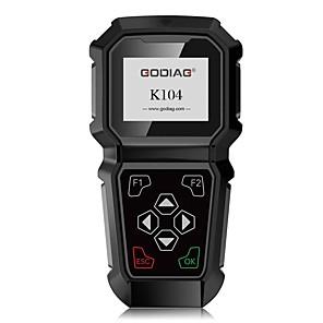 abordables Lecteurs DVD de Voiture-Godiag K104 HD écran d'affichage couleur programmation de clé à main toyota opération rapide et stable prise en charge de la carte tf haute capacité ou usb