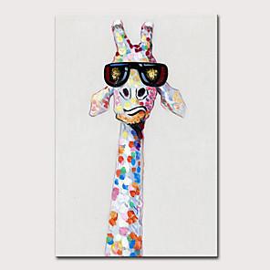 tanie Obrazy: motyw zwierzęcy-Mintura duży rozmiar ręcznie malowany abstrakcyjny obraz olejny zwierząt żyrafa na płótnie pop art nowoczesne obrazy ścienne do dekoracji wnętrz nie oprawione