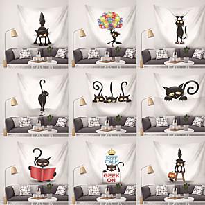 abordables Peintures à l'Huile-Thème jardin / Thème Bohémien Décoration murale Polyester contemporain / Bohême Art mural, 25*25*1 cm Décoration