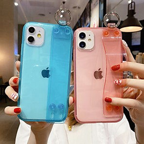 cheap iPhone Cases-Case For  iPhone 6 6s 7 8 6plus 6splus 7plus 8plus X XR XS XSMax SE(2020) iPhone 11 11Pro 11ProMax Ultra-thin with Stand Ultra-thin Transparent Back Cover Solid Colored TPU