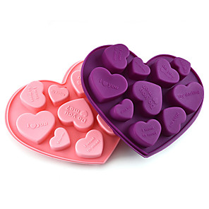 cheap Bakeware-Love Heart Shape Silicone Molds For Diy Candy Chocolate Mould Fondant Cake Decorating Tools Kitchen Bakeware