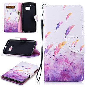cheap Other Phone Case-Case For HTC One M8 M9 M10 U11 Card Holder Shockproof Pattern Full Body Cases Food Butterfly Animal PU Leather TPU