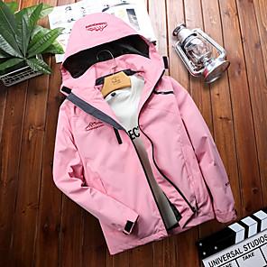 cheap Softshell, Fleece & Hiking Jackets-Women's Hiking Jacket Hiking Windbreaker Outdoor Thermal Warm Waterproof Windproof Breathable Jacket Hoodie Winter Jacket Camping / Hiking Hunting Fishing White / Black / Red / Pink