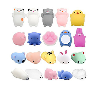 cheap Stuffed Animals-Squishy Squishies Squishy Toy Squeeze Toy / Sensory Toy Animal Series Mini Stress and Anxiety Relief Glitter Shine Mochi For Kid's Adults' Boys and Girls Gift Party Favor 28 pcs
