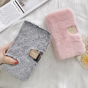 cheap iPhone Cases-Case For iPhone 12 iPhone 11 Pro Max iPhone Xs Max Wallet / Card Holder / with Stand Pure Color Plush PU Leather Case For iPhone 7 8 iPhone 7 Plus 8 Plus XR X XS iPhone Se/5S