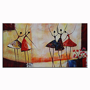cheap Abstract Paintings-Unframed Panel Abstract Ballet Dancer Hand Painted Oil Painting Modern Abstract Home Decor Wall Art Picture For Living Room Rolled Without Frame