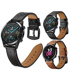 Недорогие Smartwatch Bands-кожаный ремешок для часов для часов huawei gt 2e / gt2 46 мм / gt2 42 мм / honor magic watch 2 46 мм 42 мм / gt active / watch 2 / watch 2 pro сменный браслет ремешок на запястье браслет