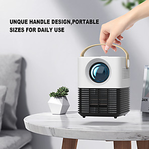 cheap Projectors-L7 Smart Mini Projector Pocket Home Projector Portable HD Environmental Protective LED Stereo Surround Sound Video Projection Machine Tiny Noise Video Beamer
