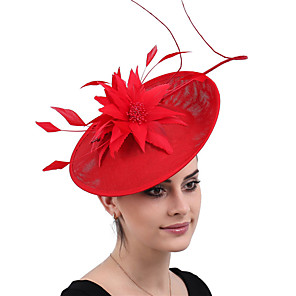 povoljno Šeširi i fascinatori-kraljica Elizabeth Audrey Hepburn Retro / vintage 1950-te 1920s Kentucky Derby Hat Šešir za pilule Žene Kostim šešir Crn / Red Vintage Cosplay Party Prom