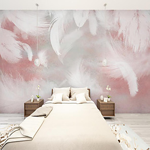 cheap Wall Murals-Art Deco Custom Self Adhesive Mural Wallpaper Feather Picture Suitable For Bedroom Living Room Coffee Shop Restaurant Hotel Wall Decoration Art