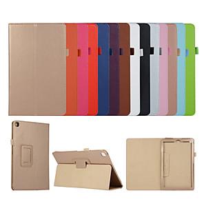 お買い得  iPadケース-ケースアップルipad mini 3 2 1 ipad mini 4 ipad mini 5スタンド付きフリップフルボディケースソリッドカラーpuレザーtpu保護スタンドカバー