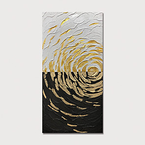 cheap Animal Paintings-Hand Painted Canvas Oilpainting Gold Abstract Home Decoration with Frame Painting Ready to Hang With Stretched Frame