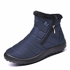 cheap Dog Collars, Harnesses & Leashes-Women's Boots Snow Boots Casual Daily Winter Black / Blue / Red