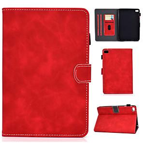 cheap iPad case-Case For Apple iPad Mini 3 2 1 iPad Mini 4 / iPad Mini 5 Card Holder  Shockproof  Flip Full Body Cases solid color PU Leather  TPU auto sleep wake