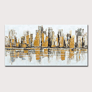 cheap Oil Paintings-Mintura  Large Size Hand Painted Abstract City Landscape Oil Paintings On Canvas Modern Pop Art Posters Wall Picture For Home Decoration No Framed Rolled Without Frame