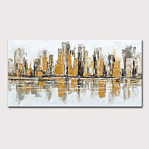 olcso Olajfestmények-mintura® nagy méretű, kézzel festett absztrakt városi tájkép, olajfestmények, vászon, modern pop art plakátok, falkép otthoni dekorációhoz, nincs bekeretezve