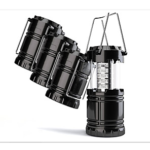 cheap Flashlights & Camping Lanterns-Camping Lanterns & Tent Lights LED Light Bulbs Waterproof 100 lm LED LED 30 Emitters Manual Mode with Batteries Waterproof Portable Camping / Hiking / Caving Everyday Use Hunting EU Warm White Light