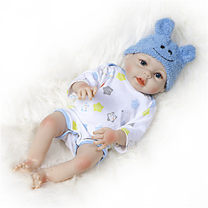 cheap Dolls Accessories-NPKCOLLECTION 22 inch NPK DOLL Reborn Doll Baby Boy Reborn Baby Doll Newborn Gift Hand Made Full Body Silicone with Clothes and Accessories for Girls' Birthday and Festival Gifts