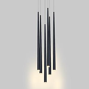 cheap Circle Design-6-Light Modern Chandelier Light Hanging Lamp Stair Lighting LED for Dinning Room Office Living Room Adjustable Creative 110-120V / 220-240V Warm White / White/ 6 Lights