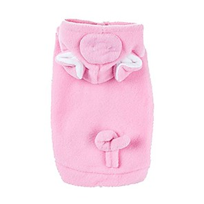 cheap Dog Collars, Harnesses & Leashes-emours pig dog pet halloween costumes dog apparel hoodies with warm fleece pink (small)