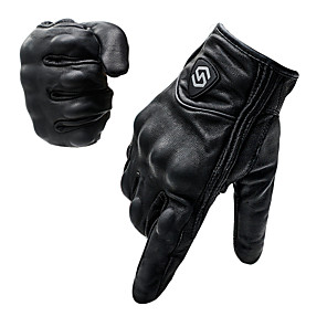 cheap Motorcycle Lighting-CS-1047A Motorcycle Riding Gloves Full Finger Touch Screen Windproof Leather Off-Road Racing Car Outdoor Protective Gloves