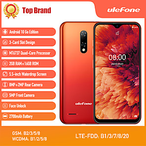 "billige Smarttelefoner-Ulefone note 8p 5.5 tommers "" 4G smarttelefon ( 2GB + 16GB MediaTek MT6737 2700 mAh mAh )"