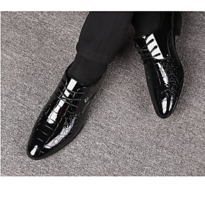 cheap Men's Oxfords-Men's Fall Business Wedding Daily Oxfords PU Non-slipping Black