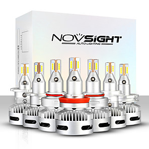 cheap Projectors-NOVSIGHT 2pcs A500-N26 For H7-H11-9005-9012-D1-D2-D5Car Light Bulbs 90 W 12000 lm LED Headlamps For universal General Motors All years With Set Up video