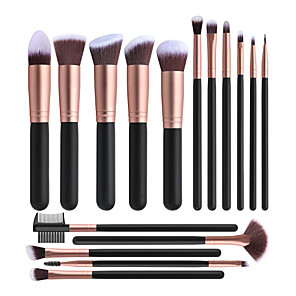 cheap Makeup Brush Sets-Professional Makeup Brushes 16pcs Full Coverage Travel Size Wooden / Bamboo for Makeup Set