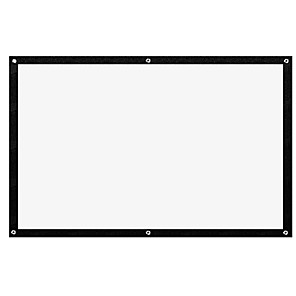 cheap Projectors-100 Inch HD Foldable Projector Screen Video Movie 4:3 Canvas Soft Curtain for Indoor Outdoor Home Theater proyector