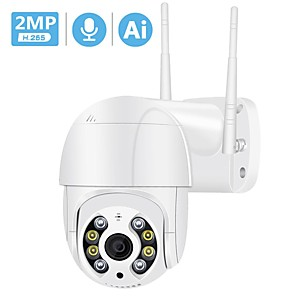 cheap Outdoor IP Network Cameras-3MP PTZ Wireless IP Camera Waterproof 4X Digital Zoom Speed Dome Super 1080P WiFi Security CCTV Camera Audio AI Human Detection