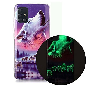cheap Samsung Case-Case For Samsung Galaxy A51 5G A71 A10 A20E A30S A50 A40 A70 A70E A10S A20S A11 A01 Glow in the Dark Pattern Back Cover Animal TPU
