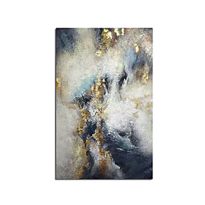 cheap Abstract Paintings-New 100% Hand Painted Abstract Gold Art Wall Picture Handmade Golden Tree Canvas Oil Painting For Living Room Home Decor Rolled Without Frame