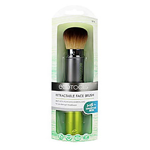 cheap Foundation Brushes-retractable kabuki travel foundation brush for blush, bronzer, & powder