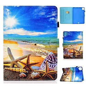 cheap iPad case-Case For Apple iPad 10.2 Air 10.5 2019 Pro 11 2020 iPad Mini 12345 2017 2018 9.7 Card Holder with Stand Pattern Full Body Cases Scenery PU Leather