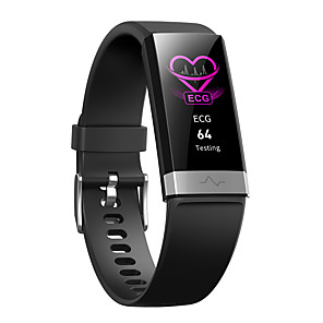 cheap Smartwatches-V19 smart bracelet ECG+PPG+HRV heart rate monitor blood pressure monitoring sleep Bluetooth fitness tracker big led smart watch
