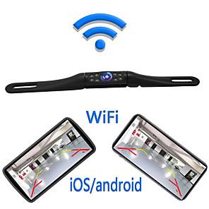 billige Bil-DVR-lcpk720 1280 x 720 trådløs 180 grader 180 bakfra kamera nytt design / plug and play / nattsyn for bil / buss / lastebil langplate