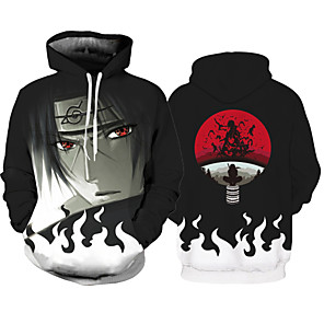 cheap Everyday Cosplay Anime Hoodies & T-Shirts-Inspired by Naruto Cosplay Costume Hoodie Polyster Print Printing Hoodie For Men's / Women's